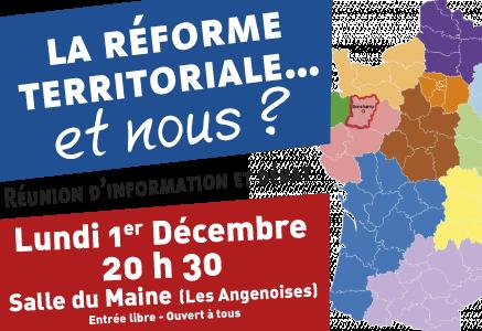 La réforme territoriale... et nous ? Réunion-débat